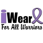 I Wear Violet Ribbon For All Warriors