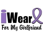 I Wear Violet Ribbon For My Girlfriend Shirts