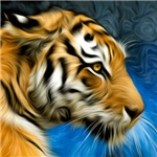 Tiger Art Painting T-Shirts Magnets, Stickers, and more!