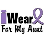 I Wear Violet Ribbon For My Aunt Shirts