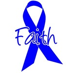 Faith Blue Ribbon Colon Cancer Apparel & Gifts