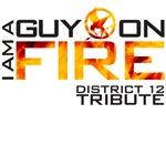 I am a guy on fire Hunger Games t shirt