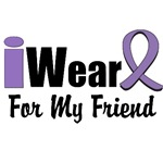 I Wear Violet Ribbon For My Friend