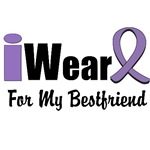 I Wear Violet Ribbon For My Best Friend