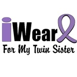 I Wear Violet Ribbon For My Twin Sister Shirts