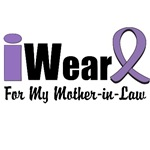 I Wear Violet Ribbon For My Mother-in-Law Shirts
