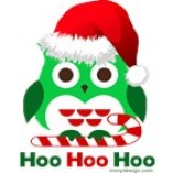 Christmas Owl Hoo Hoo Hoo T-Shirts Magnets, Stickers, and more!