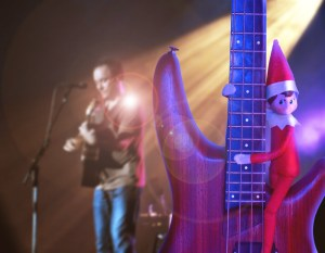 Bass playing Elf on the Shelf