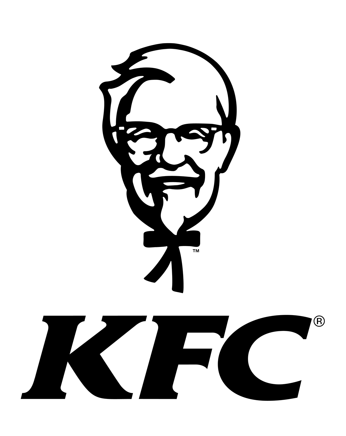 Black And Kfc Logo