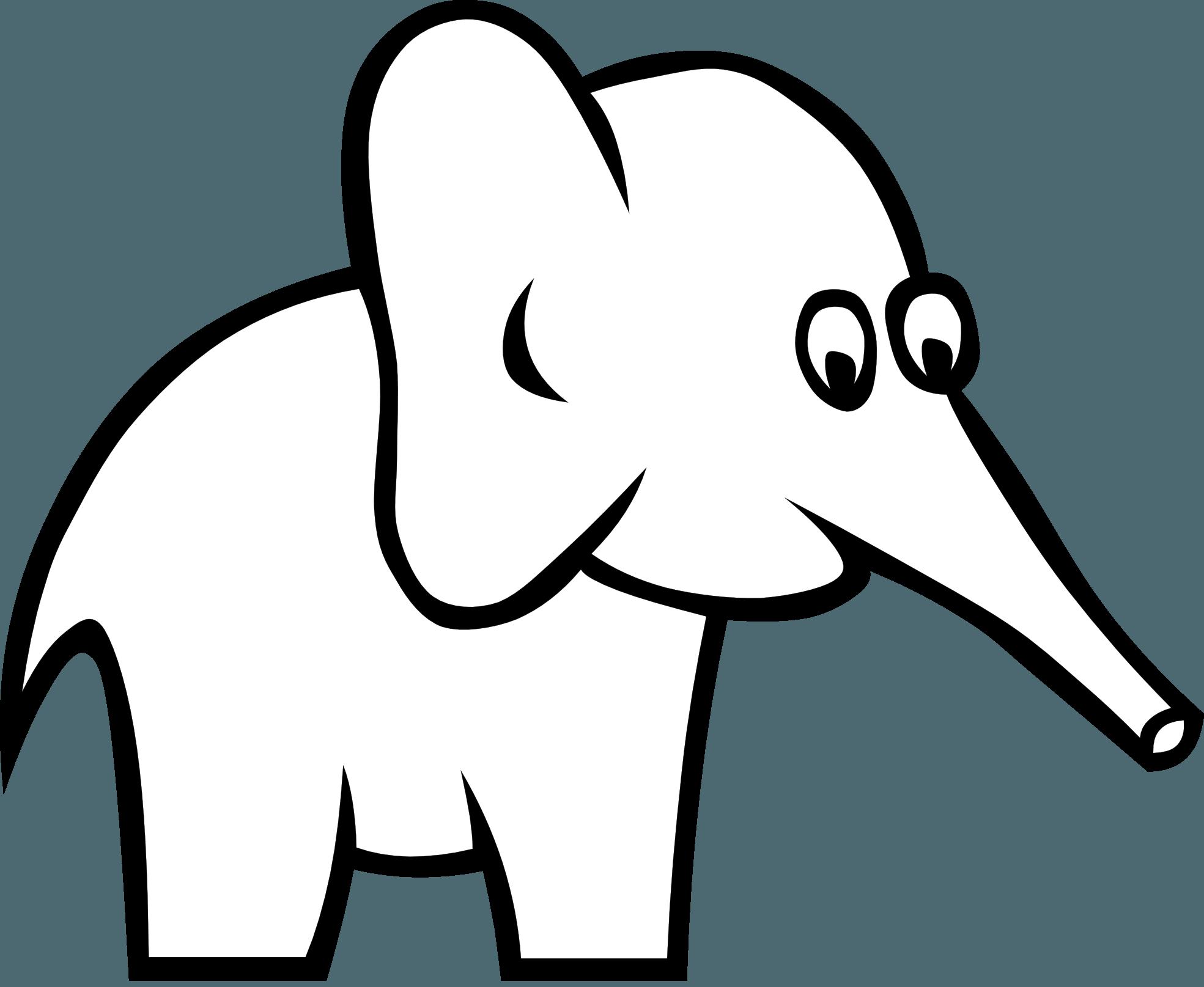 Black And White Elephant Logo