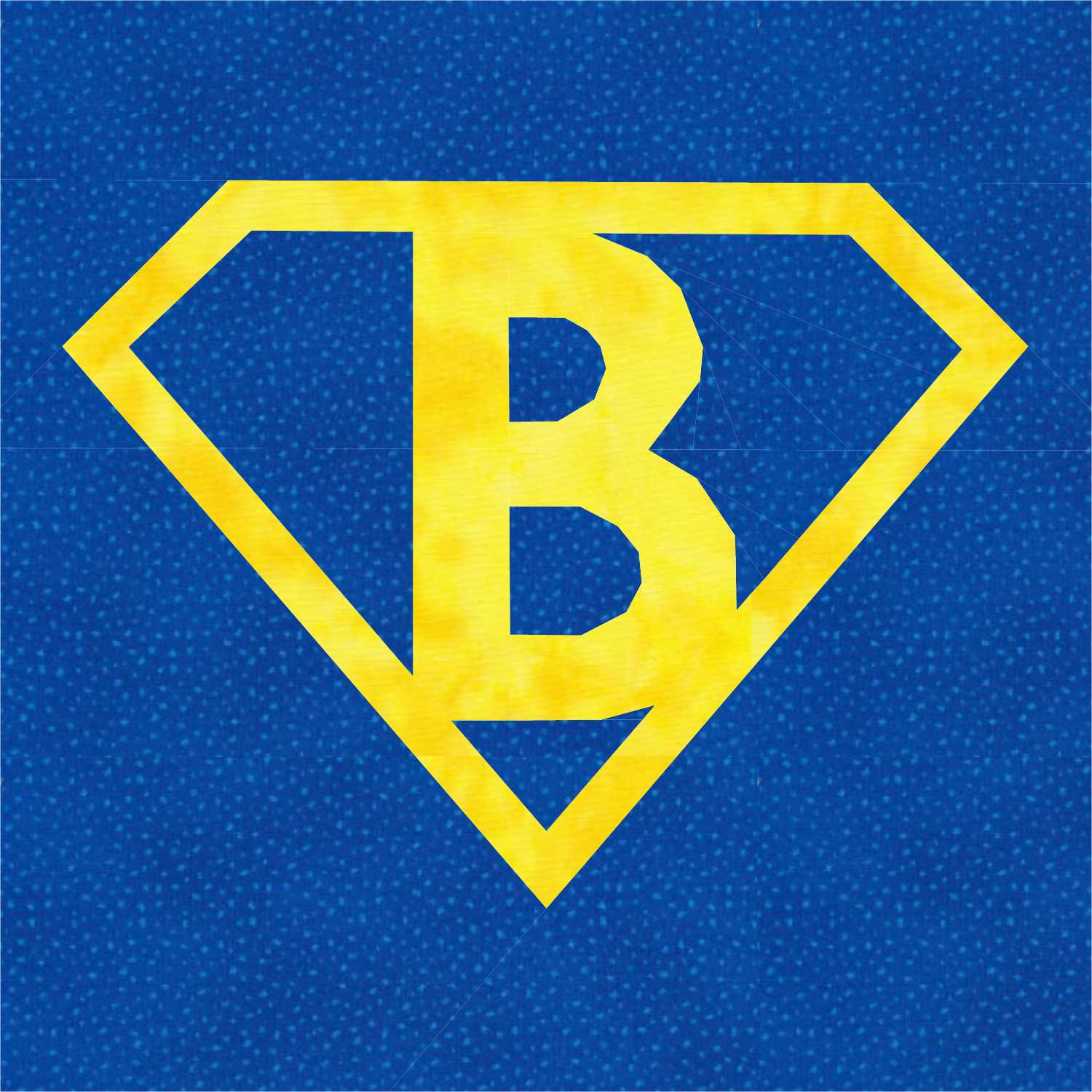 Superman Logo With Letter B