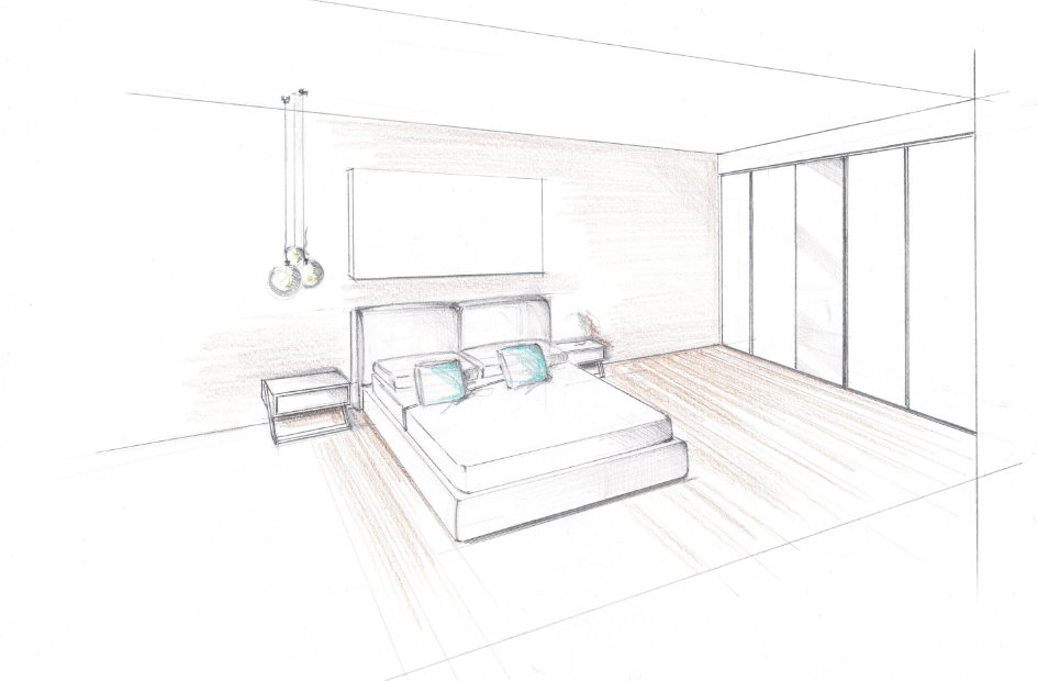 Per una piccola camera da letto scegliete un letto con contenitore, che fornirà spazio sufficiente per biancheria e lenzuola. Studio Di Progettazione Logo Interiors Logo Interiors