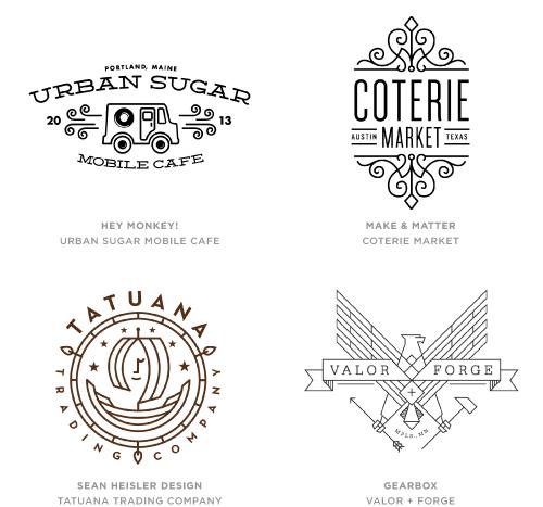 Mono Crest trend logo examples