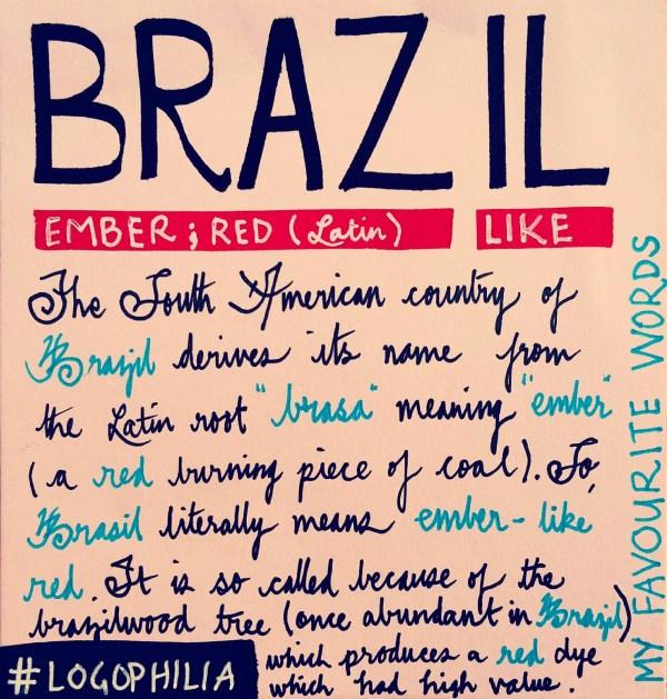 The Etymology of Brazil