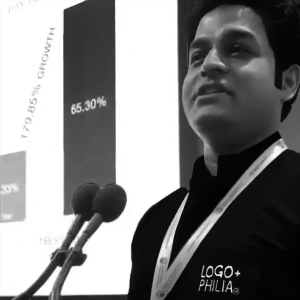 Dhruv Speaking at the Reimagine Education Awards, London, 2019
