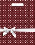 Купить оптом полиэтиленовый пакет Горох подарочный с прорубной (вырубной) ручкой от Тико