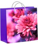 Купить оптом полиэтиленовый пакет Хризантемы на сиреневом 30x30 140мкм из мягкого пластика от ТИКО-Пластик