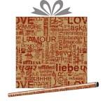 Крафт-бумага Слова любви, купить оптом в Санкт-Петербурге