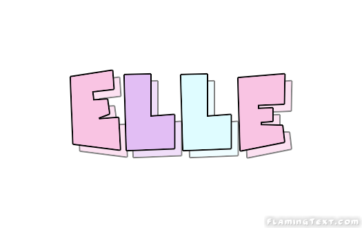 Elle Logo | Free Name Design Tool from Flaming Text