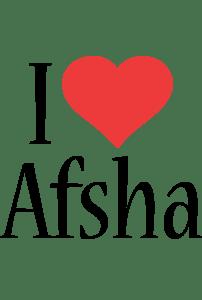 Afsha Logo Name Logo Generator I Love Love Heart