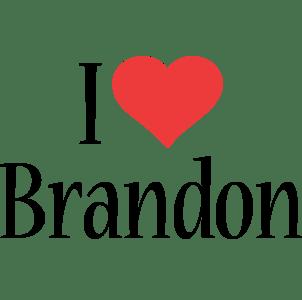 Brandon Logo Name Logo Generator I Love Love Heart