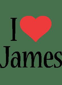 James Logo Name Logo Generator I Love Love Heart