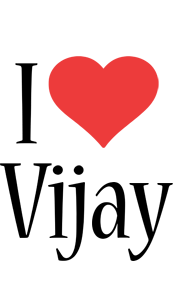 Vijay Logo Name Logo Generator I Love Love Heart