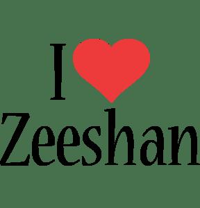 Zeeshan Logo Name Logo Generator I Love Love Heart