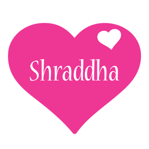 Shraddha Logo Name Logo Generator I Love Love Heart
