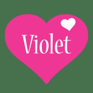 Violet Logo | Name Logo Generator - I Love, Love Heart ...