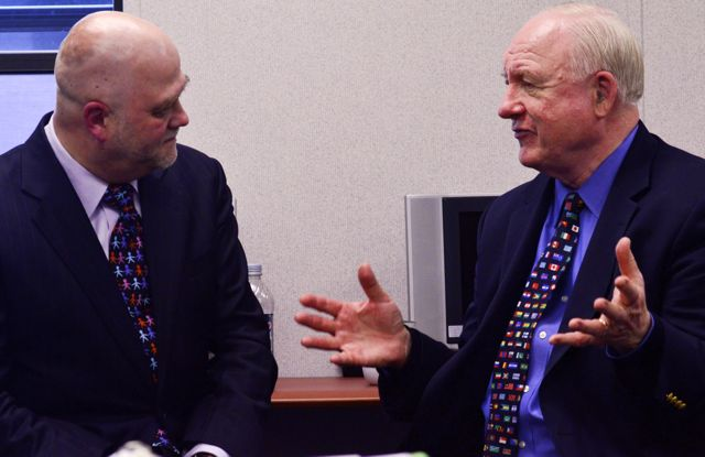 Helio Fred Garcia with Crisis Guru Jim Lukaszewski at the Joint Senior Public Affairs Officer Course at DINFOS April 28, 2014