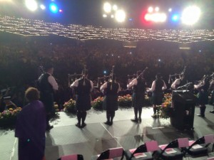 View from the graduation stage at Madison Square Garden