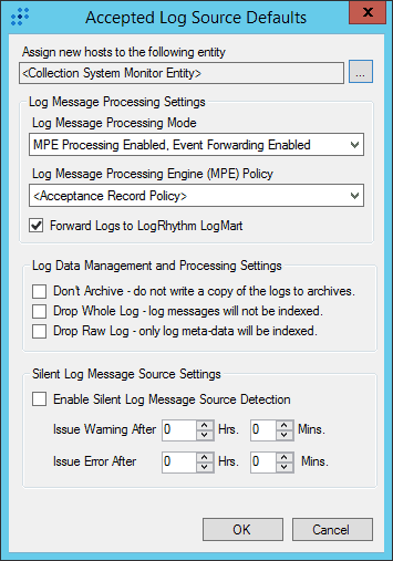 Customizing log source options in LogRhythm Deployment Manager