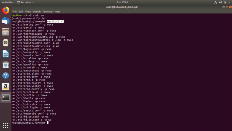AuditD active rules in Ubuntu
