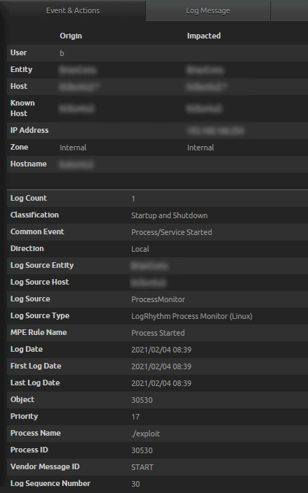 LogRhythm Process Monitor (Linux)