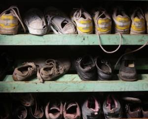 Shoes at Camp Moses. A new pair: $20.