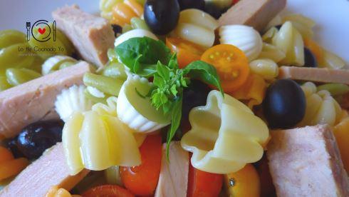Ensalada de Pasta con Ventresca de atún al estilo Siciliano