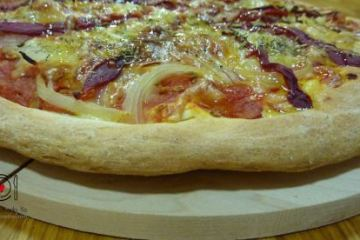 Pizza Vegetal con Masa Integral