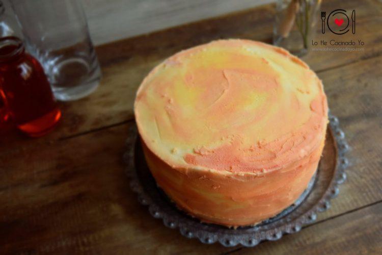Pastel con Crema de Mantequilla