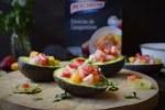 Ceviche de Langostinos y Fresas