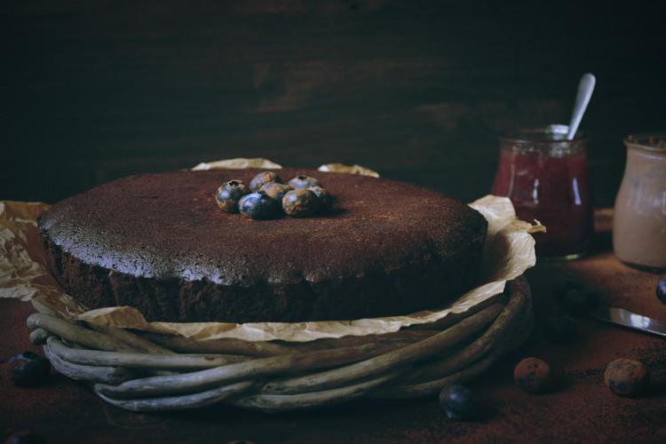 Pastel de Chocolate y Almendras Sin Harina