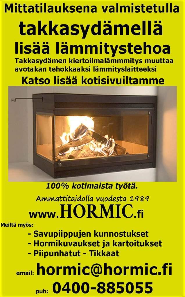 Takkasydämellä lisää lämmitystehoa