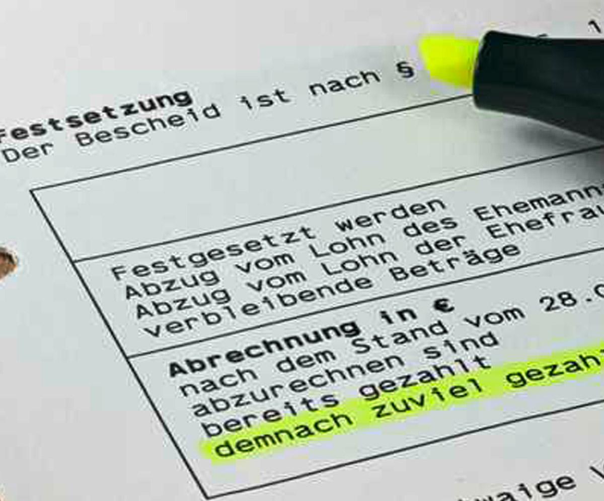 Einkommensteuer-Erklärung