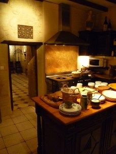 Kitchen at an evening dinner party