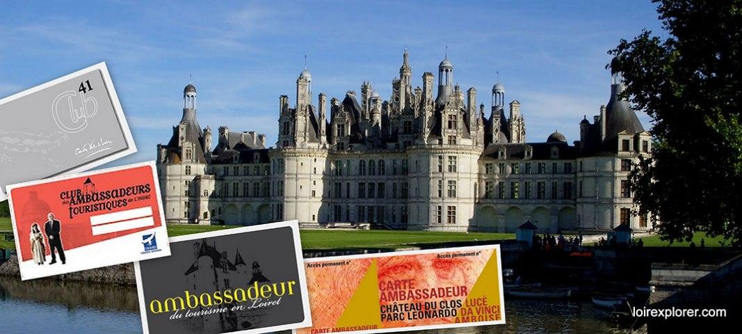 La Carte Ambassadeur, vous pouvez visiter le Val de Loire moins cher