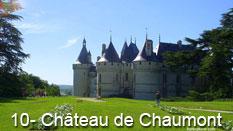 monument et châteaux de la Loire ouverts toute l'année Château de Chaumont sur Loire