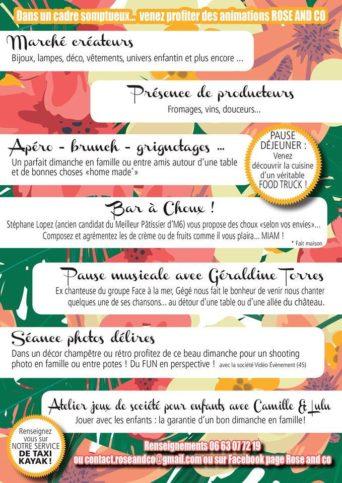 menu apero shooting et shopping rose&co sologne