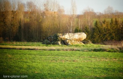 dolmens et menhirs en région Centre Dolmen de la Pierre à Moulins sur Céphons tombe néolithique préhistoire Loir et Cher mégalithe menhir néolithique préhistoire Indre