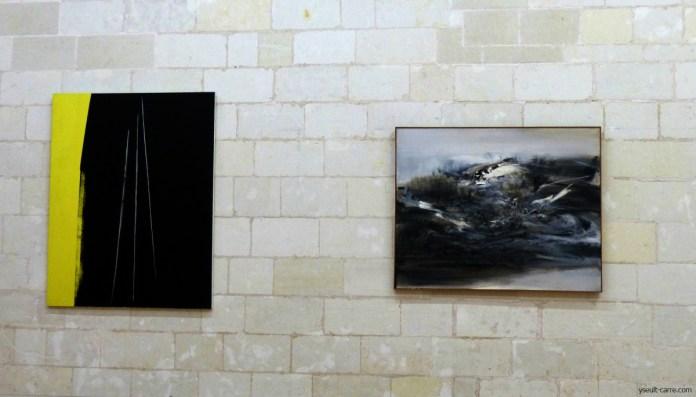 Hans Hartung T. 1971 - H 20 , 1971 et Zao Wou-Ki 26 fevrier 1966 copyright Yseult Carré
