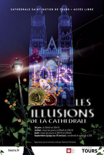 illumination cathédrale saint Gatien-Tours
